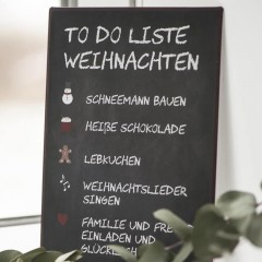 Blechschild To do Liste