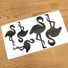 Flamingo Vinyl Sticker Schwarz