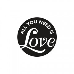 Seifen-Label all you need is Love