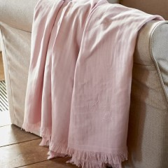 Sommerdecke Love Throw Pink